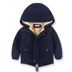 Boys Winter Jacket Warm Trench Coat