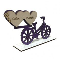 Kişiye Özel İsim Yazılı Dekoratif Bisiklet