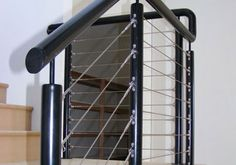 Give your staircase or balcony a modern, casual look by installing stainless steel wire balustrade in Perth. Wire Balustrade, Stairs, Stairway, Staircases, Stairways, Ladders