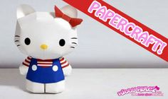 Download some free printable Hello Kitty paper toys to put together, it's a lot of fun and an awesome gift!