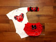 Chicago Bulls Girls Outfit by BebeSucreOnline on Etsy