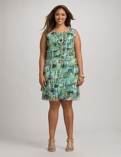 Abstract tiered dress