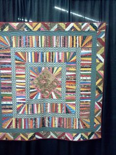 String Quilt made by Gwen Marston at the AQS Quilt Show in Des Moines, IA October 2012