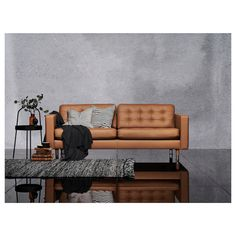 IKEA - LANDSKRONA, Sofa, Grann/Bomstad golden brown/metal, Sleeves for the legs to match the cover are included.