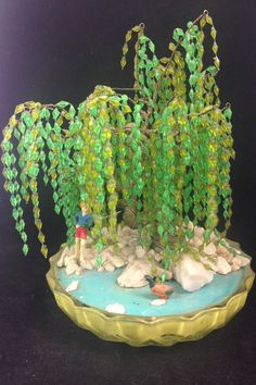 Vintage Weeping Willow Wire Sculpture by VeryVintageCanadian
