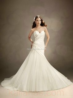 bridal gown - Style Sophia Tolli Nightlock Strapless A-Line Satin And Tulle Crystal Embroidery Flowers www.kalianas.com