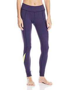 562c4f86c Beyond Yoga Womens Front Seam Long Legging True Navy-Canary Yellow Large  https