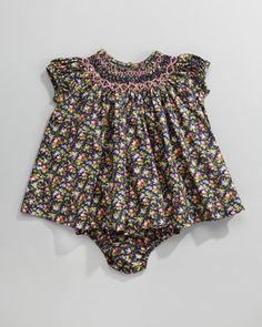 Ralph Lauren /Smocked Floral-Print Dress