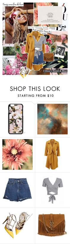 """Take Shelter"" by aliicia21 ❤ liked on Polyvore featuring Dolce&Gabbana, WithChic, Valentino, Yves Saint Laurent and Illesteva"