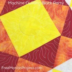 machine quilting block party | quilt along