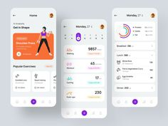Health and Fitness iOS App by Ahmed Manna for UnoPie Design on Dribbble