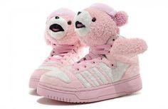 uk availability 11472 97033 Jeremy Scott Adidas Wings Teddy Bear Pink Shoes  95