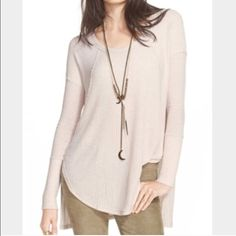 Free people Ventura high low thermal sz xs New without tags label marked to prevent store returns Free People Tops Tees - Long Sleeve