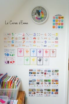 The decorative posters of our Games Room - Emma& Notebook, Home Activities Kindergarten Posters, Lego Table Ikea, Ikea Kallax Regal, New England Farmhouse, Diy Home, Home Decor, Play Centre, Home Activities, Nursery Room
