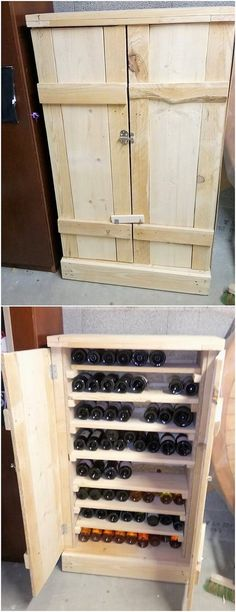 Choosing the wood pallet for the amazing designing of the wine storage cabinet can often come about to be the dramatic choices as well. You would be falling in love with the artistic taste of the designing impressions being part of it where wine storage and cabinets are two in one services.