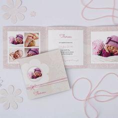 Sinala | Geburtskarte Doppelklappkarte 6-seitig