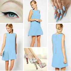 Romantyczna i elegancka pastelowa sukienka na codzień