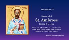 St Ambrose, Advent Season, Catholic, Saints, December, Memories, Memoirs, Souvenirs, Remember This