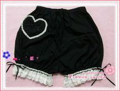 Cute Black Lace love Lolita Bloomers
