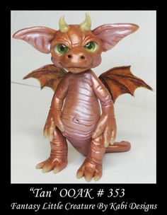 Dragon Fairy Art Doll Polymer Clay Fantasy Miniature DollHouse