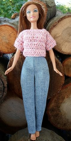 Happier Than A Pig In Mud: Free Barbie Clothes Patterns-Pants, Skirt and T-Shirt