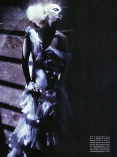 Guinevere van Seenus photographed by Paolo Roversi - Vogue Italia: September 2008 - A Singular Beauty