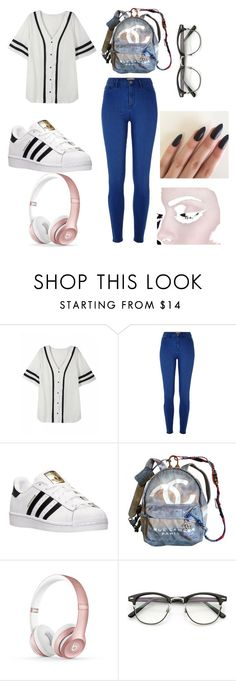 """©®♂"" by vaehdayx ❤ liked on Polyvore featuring River Island, adidas, Chanel and Beats by Dr. Dre"