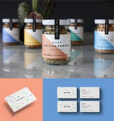 Sprinkle Spices Brand Identity & Packaging on Behance Food Branding, Food Packaging Design, Packaging Design Inspiration, Spices Packaging, Jar Packaging, Tea Jar, Spice Labels, Flavored Butter, Creative Jobs