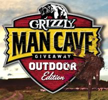 Grizzly Man Cave Giveaway Outdoor Edition Instant Win Game (25,500 Prizes)