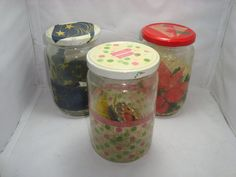 Fancy Pickles 10 Pairs Of Earrings, Gift Jar with earrings made of recycled materials