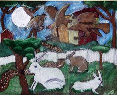 5th grade blue ribbon winner, Houston livestock show and rodeo art contest, oil pastel