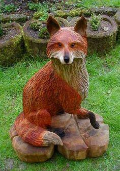 Holzfigur Fuchs