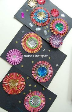 Cut up colorful cupcake liners to make simple bows |nana+iro*cafe New Year's Crafts, Summer Crafts, Diy And Crafts, Arts And Crafts, Paper Crafts, Craft Activities For Kids, Preschool Crafts, Crafts For Kids, Painting For Kids