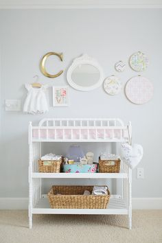 Changing Table Decor Baby Caroline | Atlanta Newborn Photography | Shabby Chic Nursery