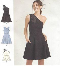 Cynthia Rowley Womens One Shoulder Knit Dress or Top Stretch