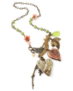 A beautiful design from Rose Noble using my heart pendants