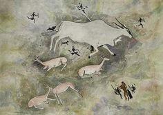 Rock art - Figures & Buck - Walter Battiss Walter Battiss, Picasso Portraits, South African Artists, Marc Chagall, Art Database, Paper Artist, Naive Art, Animation, Famous Artists