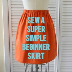 sew a super simple skirt