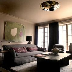 love the reflective domed light fixture richard ostell west village living room