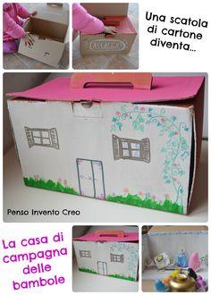 penso+invento+creo: Casa di Campagna delle bambole fatta di cartone