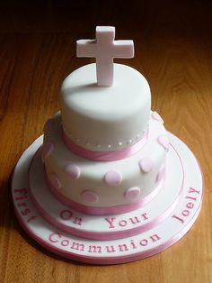 Girls First Communion Cake by Susie 99, via Flickr