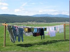 clothes on the line...the smell? Heaven!