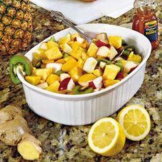 Ginger-and-Lemon Fruit Salad...Remove mangoes for me :(