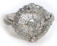 Beautiful, delicate antique diamond ring, circa 1900. How pretty. Via The Three Graces. by susanna