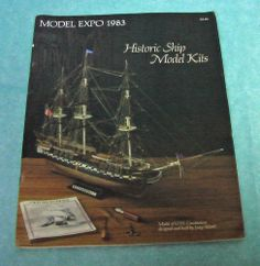 1983 Historic Ship Model Kit Catalog Boats Cannons Tools Research Vintage Paper
