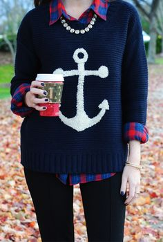 """2: I chose my anchor sweater because it has the most """"beauty"""" out of everything in my Space Luggage. This sweater is made of cashmire and is something I wear a lot."""
