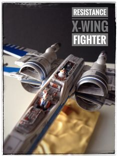 Resistance X-Wing Fighter painted build with pilot & BB8