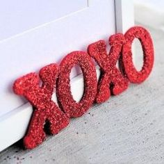 Valentine's Glitter Letters