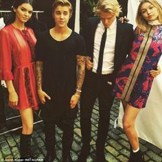 Mystery: Although Justin also posted a similar photo, none of those involved said why the group was together
