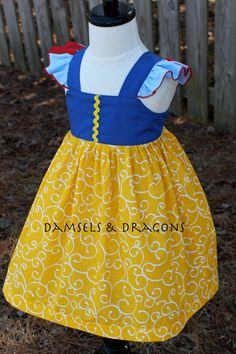 Snow White Inspired Dress by damselsndragons on Etsy, $40.00